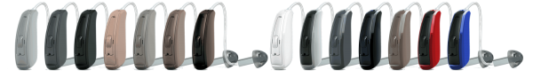ReSound LiNX 3D BTE and RIE LINEUP OF COLORS